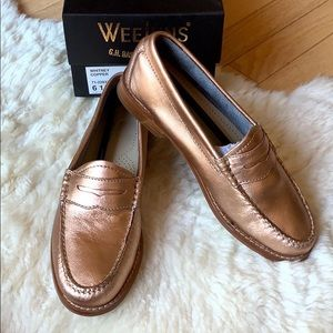 WEEJUNS Whitney loafer size 6.5 copper rose gold